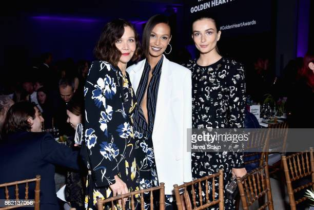 Maggie Gyllenhaal Joan Small and Andreea Diaconu attend The 11th Annual Golden Heart Awards Benefiting God's Love We Deliver at Spring Studios on...