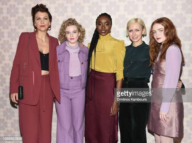 Maggie Gyllenhaal Julia Garner Kiki Layne Nicola Glass and Sadie Sink attend the Kate Spade Fashion Show during New York Fashion Week at Cipriani 25...