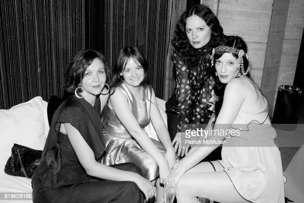 Maggie Gyllenhaal Leith Clark Yelena Yemchuk and Sarah Sophie Flicker attend NEW YORK CITY BALLET'S Dance with the Dancers Benefit at David H Koch...