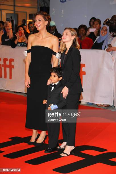 Maggie Gyllenhaal Parker Sevak and Sara Colangelo attend the The Kindergarten Teacher premiere during 2018 Toronto International Film Festival at Roy...