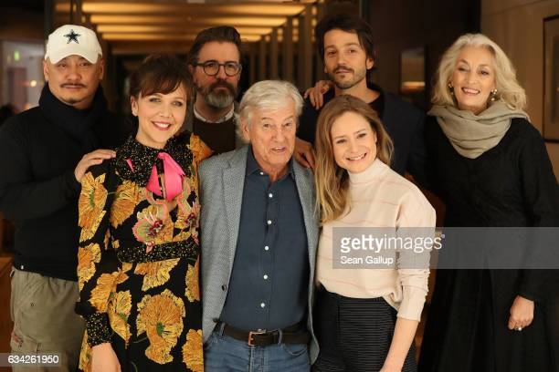 Maggie Gyllenhaal Paul Verhoeven Julia Jentsch Wang Quan'an Olafur Eliasson Diego Luna and Dora Bouchoucha Fourati attend the International Jury...