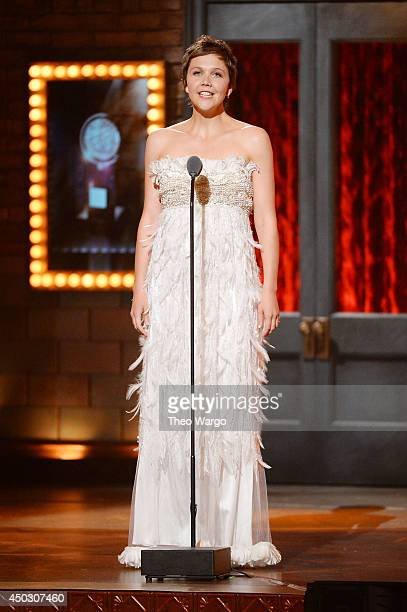Maggie Gyllenhaal speaks onstage during the 68th Annual Tony Awards at Radio City Music Hall on June 8 2014 in New York City