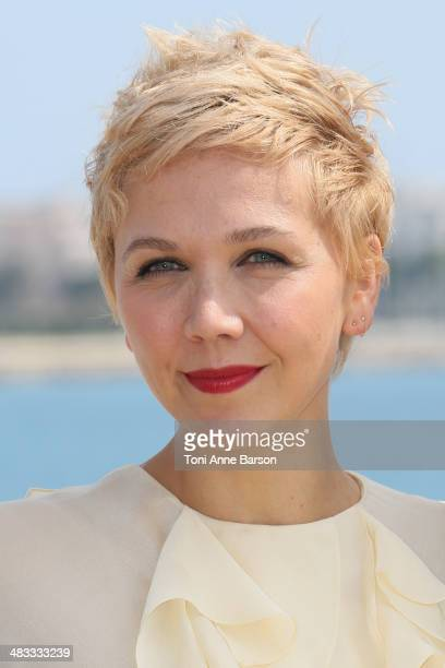 Maggie Gyllenhaall attends photocall for Honourable Woman at MIPTV 2014 at Hotel Majestic Jetty on April 7 2014 in Cannes France