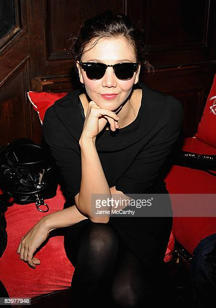 Maggie Gyllenhal wearing RayBan sunglasses attends RayBan Remasters at Bowery Ballroom on December 9 2008 in New York City