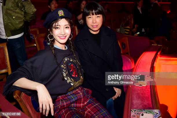 Maggie Jiang and Angelica Cheung attend the Tommy Hilfiger TOMMYNOW Spring 2019 TommyXZendaya Premieres at Theatre des ChampsElysees on March 02 2019...