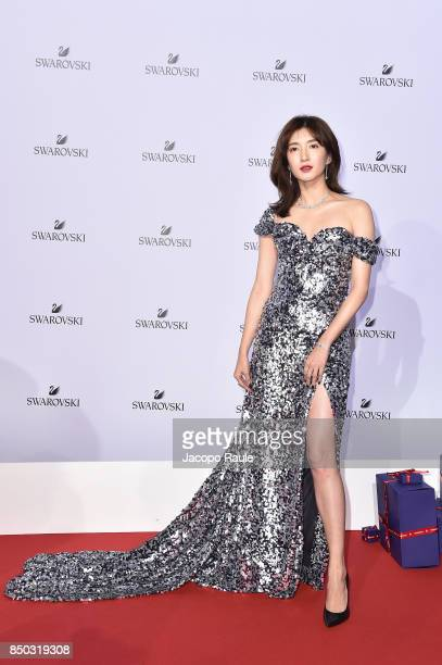 Maggie Jiang attends Swarovski Crystal Wonderland Party on September 20 2017 in Milan Italy