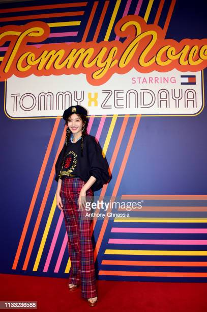 Maggie Jiang attends the Tommy Hilfiger TOMMYNOW Spring 2019 TommyXZendaya Premieres at Theatre des ChampsElysees on March 02 2019 in Paris France