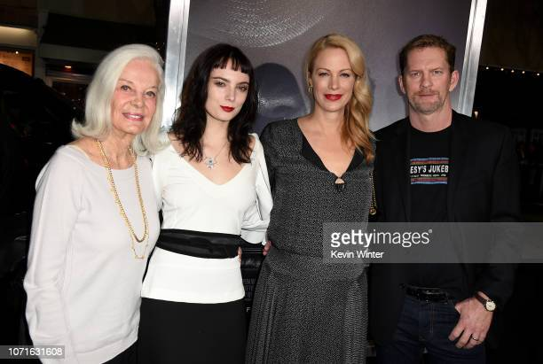 "Maggie Johnson, Graylen Eastwood, Alison Eastwood and Stacy Poitras arrive at the premiere of Warner Bros. Pictures' ""The Mule"" at the Village..."