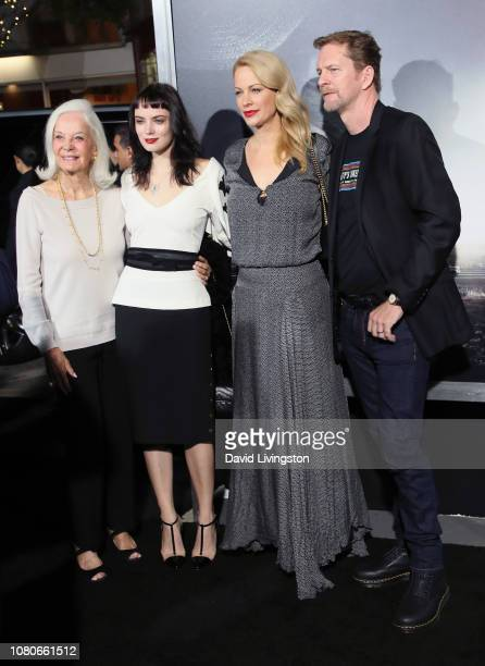 "Maggie Johnson, Graylen Eastwood, Alison Eastwood and Stacy Poitras attend Warner Bros. Pictures World Premiere of ""The Mule"" at Regency Village..."