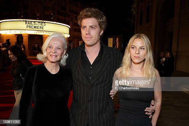 "Maggie Johnson, Kyle Eastwood and guest at the Warner Bros. Premiere of ""Rails & Ties"" at the Steven J Ross Theater on October 23, 2007 in Burbank,..."