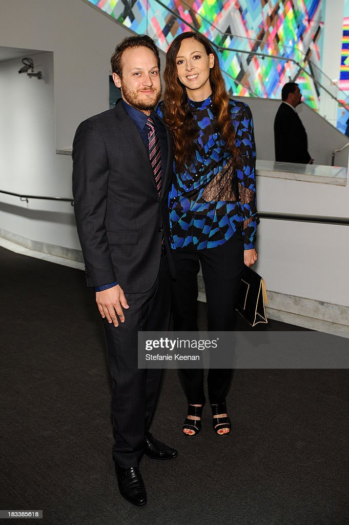 Maggie Kayne and Aaron Sandnes Hammer Museum 11th Annual Gala In The Garden With Generous Support From Bottega Veneta, October 5, 2013, Los Angeles, CA at Hammer Museum on October 5, 2013 in Westwood, California.