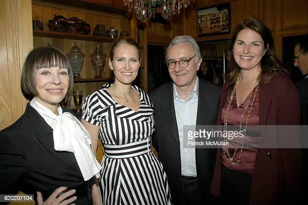 Maggie Lacose Gwenaelle Gueguen Alain Ducasse and Elizabeth Blau attend Benoit Opening Party Hosted by Pamela Fiori and Alain Ducasse at Benoit...