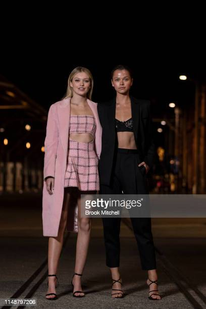 Maggie Laine and Allanah Walton attend the Angels by Russell James Australian Book Launch during MercedesBenz Fashion Week Resort 20 Collections at...