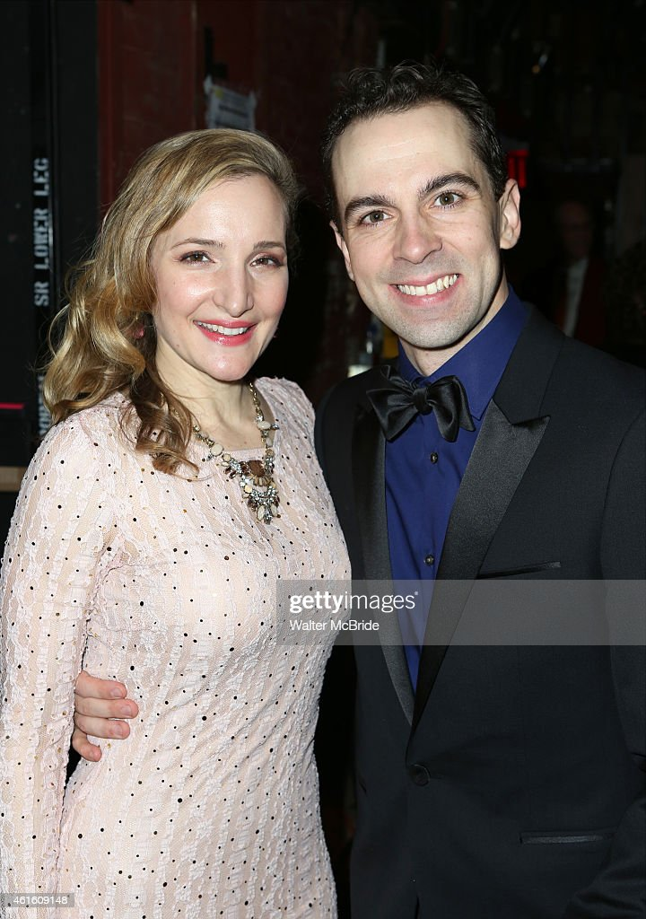 Maggie Lakis And Rob McClure Attends The Broadway Opening