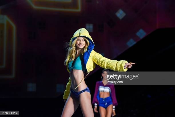 Maggie Lane attends 2017 Victoria's Secret Fashion Show In Shanghai Show at MercedesBenz Arena on November 20 2017 in Shanghai China