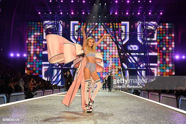 Maggie Lane walks the runway during the 2016 Victoria's Secret Fashion Show on November 30 2016 in Paris France