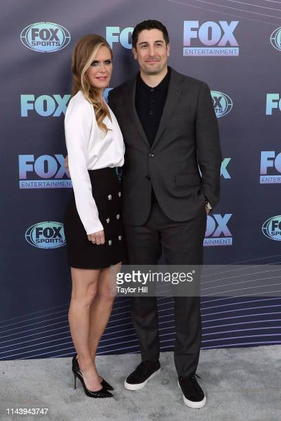 Maggie Lawson and Jason Biggs attend the 2019 Fox Upfront at Wollman Rink Central Park on May 13 2019 in New York City