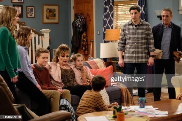Maggie Lawson Ashley Boettcher Connor Kalopsis guest star Caroline Aaron Oakley Bull Jack Stanton Jason Biggs and guest star Tony Danza in the...