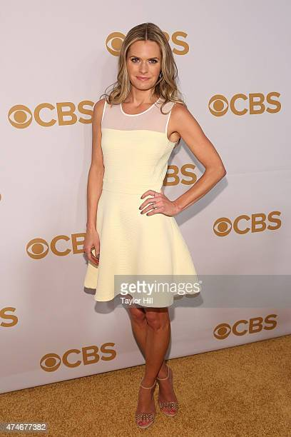 Maggie Lawson attends the 2015 CBS Upfront at The Tent at Lincoln Center on May 13 2015 in New York City