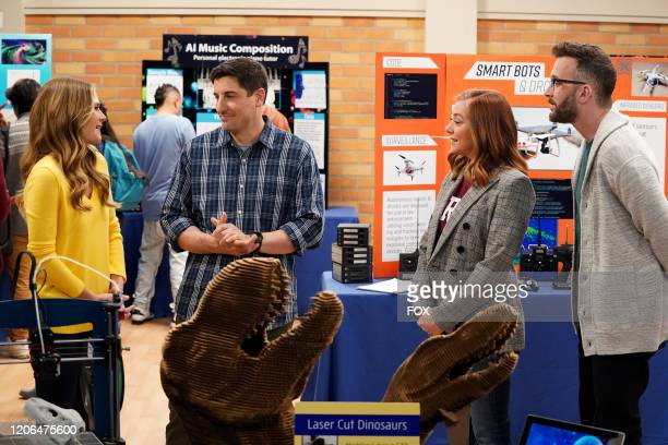 Maggie Lawson Jason Biggs and guest stars Alyson Hannigan and Eddie Kaye Thomas in the Couples Friends episode of OUTMATCHED airing Thursday Mar 12...