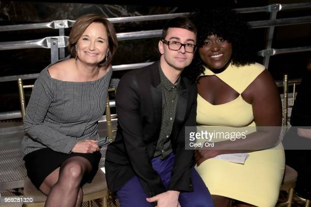 Maggie Lear Christian Siriano and Danielle Brooks attend the Bottomless Closet's 19th Annual Spring Luncheon on May 16 2018 in New York City