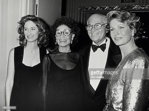 Maggie Lear Frances Loeb producer Norman Lear and wife Lyn Davis attending 10th Anniversary Party for The Spirit of Liberty on November 10 1990 at...