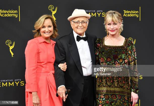 Maggie Lear Norman Lear and Lyn Lear attend the 2019 Creative Arts Emmy Awards on September 14 2019 in Los Angeles California
