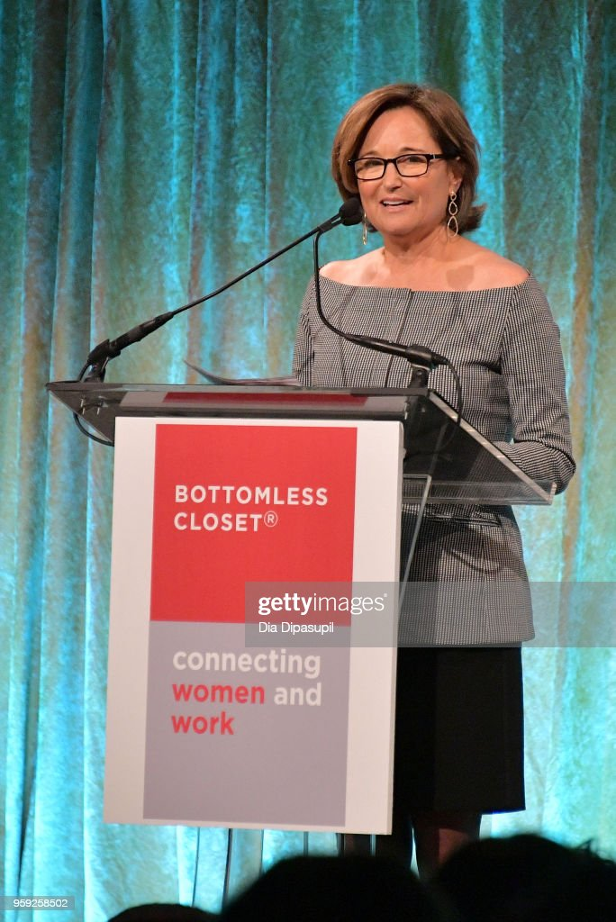 Maggie Lear Speaks On Stage At The Bottomless Closet S