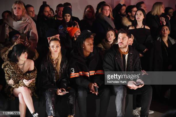 Maggie Lindemann Delilah Belle Myles B O'Neal and Joey Zauzig attend the R13 show February 2019 New York Fashion Week on February 09 2019 in New York...