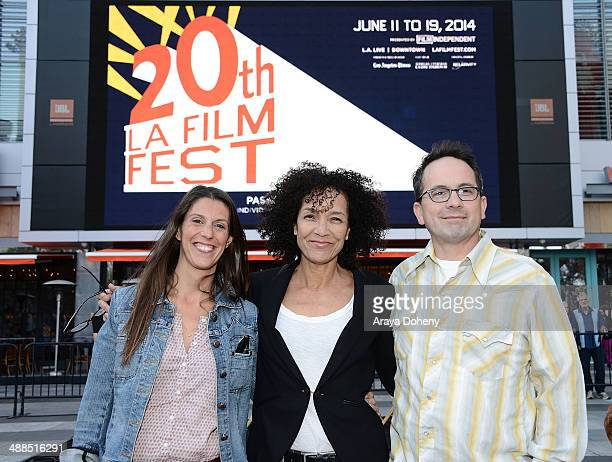 Maggie Mackay Stephanie Allain and Doug Jones attend the Film Independent's prefestival outdoor screening of 'Clueless' at LA LIVE on May 6 2014 in...
