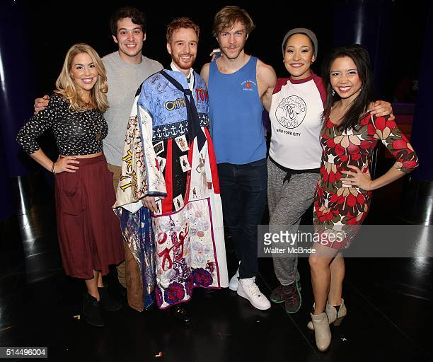 Maggie McDowell Casey Garvin Paul Castree Travis Kent Olivia Phillip and Catherine Ricafort during the Broadway Opening Night Actors' Equity Gypsy...