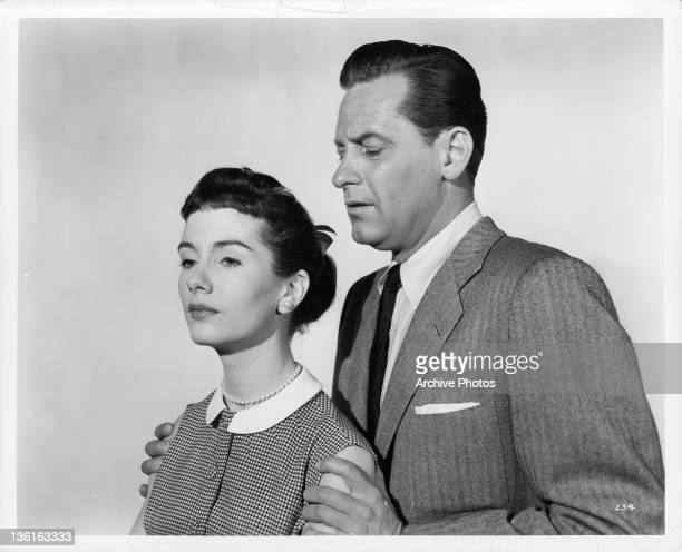 Maggie McNamara and William Holden publicity portrait from the film 'The Moon Is Blue' 1953