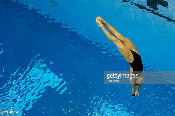 Maggie Merriman of Moss Farms Diving competes during the Senior Women's 3m Springboard Semifinal during the 2017 USA Diving Summer National...