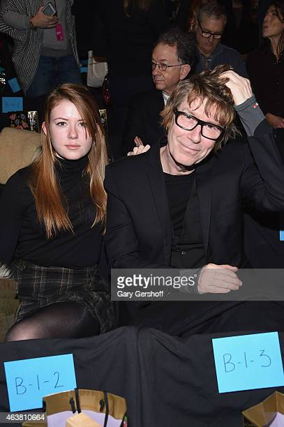 Maggie Mozart Butler and musician Richard Butler attend the Anna Sui fashion show during MercedesBenz Fashion Week Fall 2015 at The Theatre at...