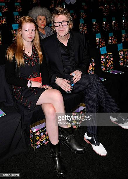 Maggie Mozart Butler and Richard Butler attend the Anna Sui fashion show during MercedesBenz Fashion Week Spring 2015 at The Theatre at Lincoln...