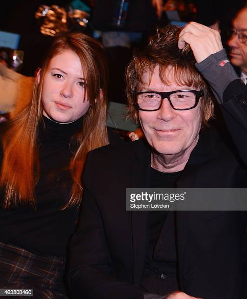 Maggie Mozart Butler and Richard Butler attend the Anna Sui fashion show during MercedesBenz Fashion Week Fall 2015 at The Theatre at Lincoln Center...
