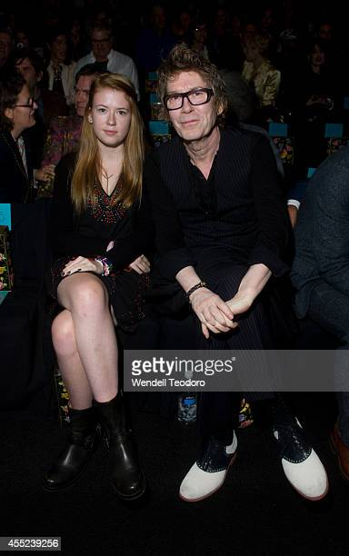 Maggie Mozart Butler and Richard Butler attends Anna Sui during MercedesBenz Fashion Week Spring 2015 at The Theatre at Lincoln Center on September...