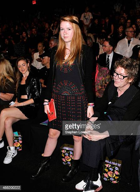 Maggie Mozart Butler attends the Anna Sui fashion show during MercedesBenz Fashion Week Spring 2015 at The Theatre at Lincoln Center on September 10...