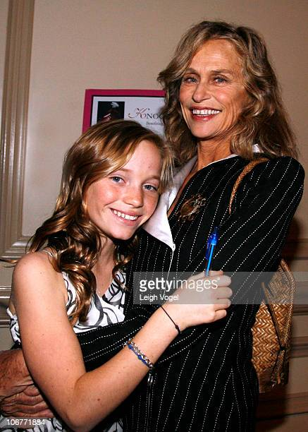 Maggie Nixon and Lauren Hutton attend the KnockOut Abuse Against Women 17th Annual Fundraiser at the RitzCarlton Hotel on November 11 2010 in...
