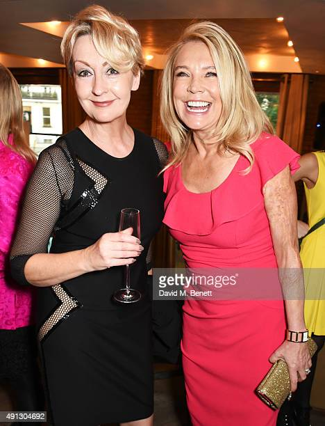 Maggie Norris and Amanda Redman attend the Voice Of A Woman Awards at the Belgraves Hotel on October 4 2015 in London England