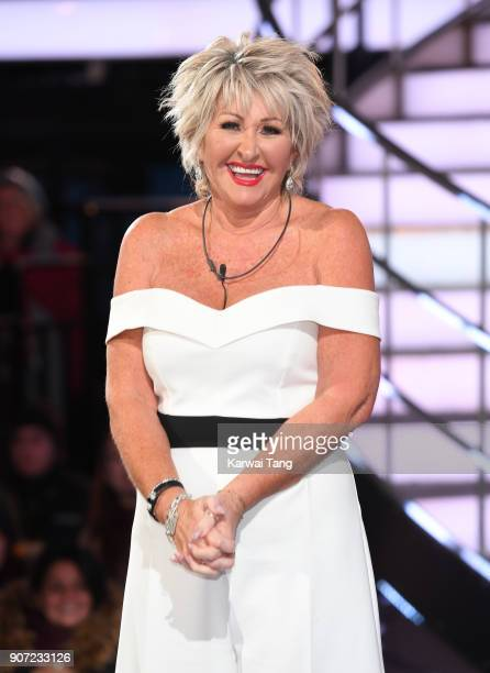 Maggie Oliver is evicted during the Celebrity Big Brother live eviction at Elstree Studios on January 19 2018 in Borehamwood England