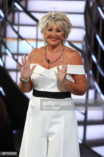 Maggie Oliver leaves the Big Brother house during a Celebrity Big Brother live eviction at Elstree Studios on January 19 2018 in Borehamwood England