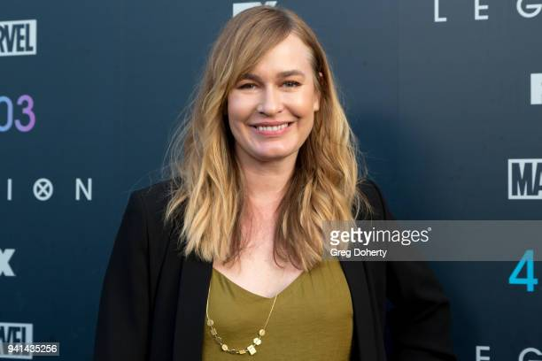 Maggie Phillips attends the Legion Season 2 Premiere at DGA Theater on April 2 2018 in Los Angeles California