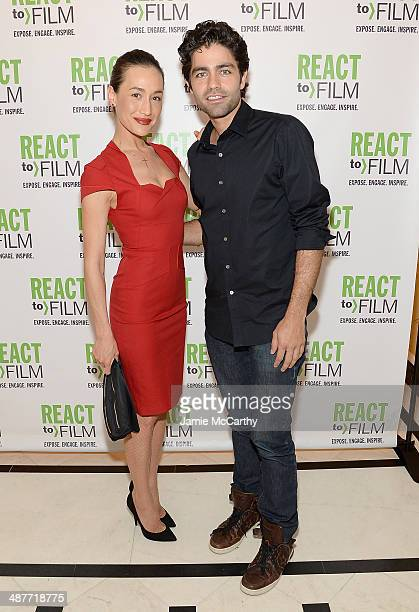 Maggie Q and Adrian Grenier attend the React To Film Awards on May 1 2014 in New York City