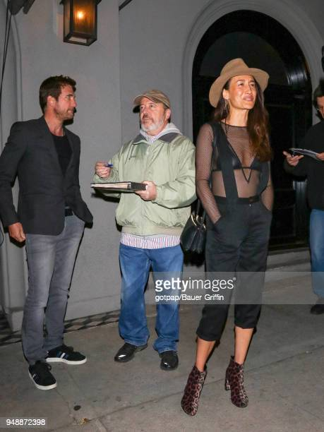 Maggie Q and Dylan McDermott are seen on April 18 2018 in Los Angeles California