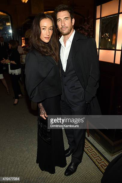 Maggie Q and Dylan McDermott attend the 2015 Tribeca Film Festival CHANEL Artists Dinner at Balthazer on April 20 2015 in New York City