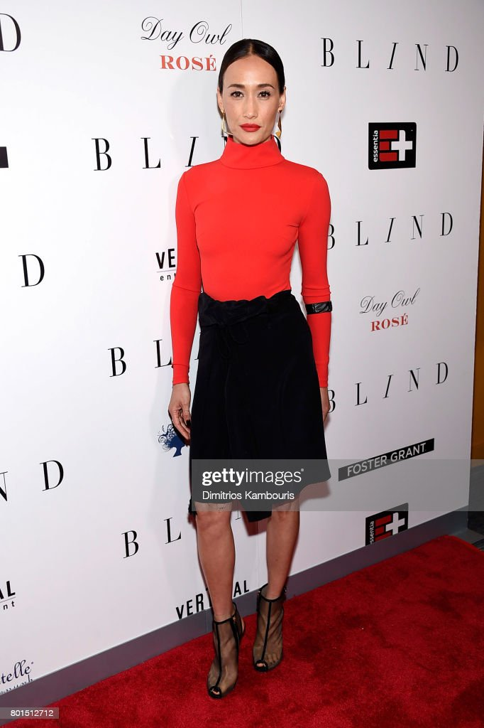 Maggie Q attends the 'Blind' premiere at Landmark Sunshine Cinema on June 26, 2017 in New York City.