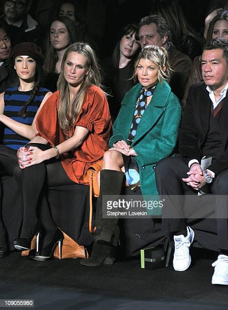 Maggie Q model Molly Sims singer Fergie and Sean Patterson attend the Diane von Furstenberg Fall 2011 fashion show during MercedesBenz Fashion Week...