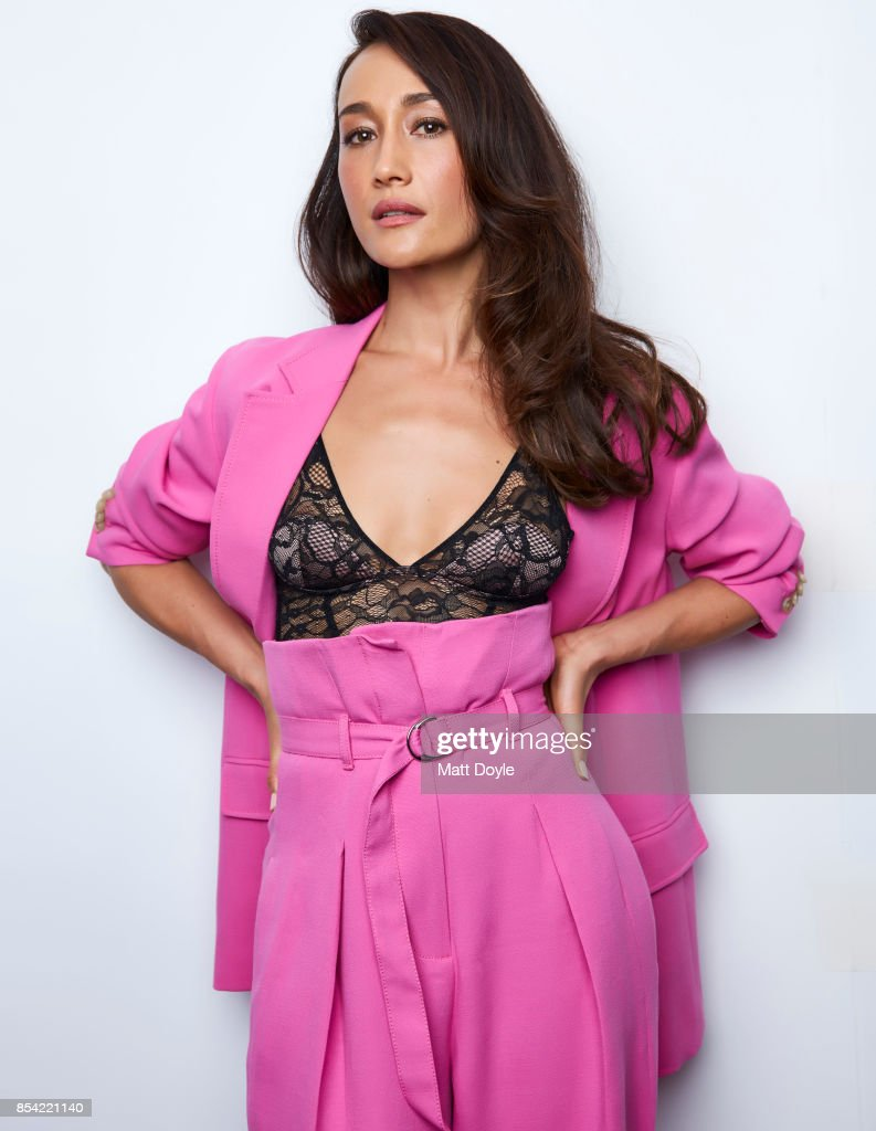 Maggie Q poses for a portraits at the Tribeca TV festival at Cinepolis Chelsea on September 24, 2017.