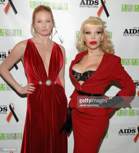Maggie Rizer and Amanda Lapore attend the New York Aids Film Festival Red Ball at The Riverhouse Sales and Discovery Center in New York City December...